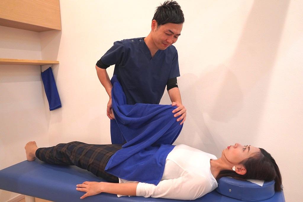 整体や骨盤矯正は痛みのないやさしい施術です